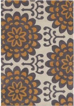 area rug decor, color, area rugs, butler wallflow, wool rugs, oranges, wallflow rug, amy butler, ami butler