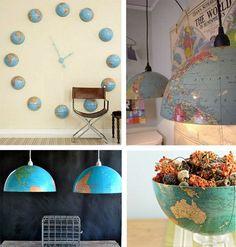 Harita ve Atlas ile Ev Dekoru Süslemesi Yapımı Merhabalar arkadaşlar evimizde atıl durumda olan, harita, atlas gibi kıyıda köşede kalmış eşyaların değerlendirme vakti geldi. Atlas ve Haritalar ile öylesine güzel dekor ve süslemeler yapılıyor ki, artık atlas ve haritaları atmaya kıyamayacaksınız.  Dekorasyonda çok moda haline geldi bir eğilim birçok nesnelere yeni bir görünüm vermek …