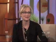 Meryl Streep on Ellen. adore her! And totally want to play that accent game