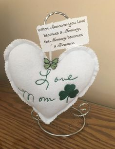 Memory heart clothing keepsake Made from loved ones | Etsy Memorial Ornaments, Memorial Gifts, Memorial Ideas, Christmas Ornaments, Christmas Tree, Memory Crafts, Keepsake Crafts, Memory Pillows, Memory Quilts