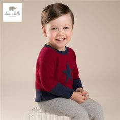 DB3604 davebella meninos camisola crianças pullover crianças camisola vermelha