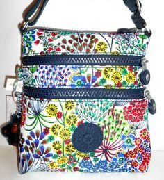 KIPLING Alvar XS Crossbody Bag *NEW* Little Flower Print Nylon TopZip AC7125 NWT #Kipling #MessengerCrossBody