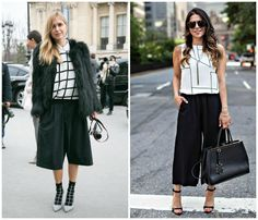 ¿Cómo combinar los pantalones culotte?