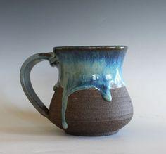 Pottery Mug, 14 oz, handmade ceramic cup, handthrown mug, stoneware mug, pottery…