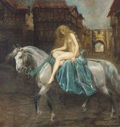 Lady Godiva by Ethel Mortlock (c.1865–1928) via Dark and fantastic arts FB
