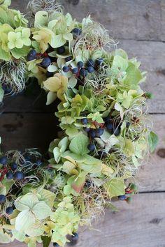 autumn hydrangea wreath   MOJA PRZYSTAŃ