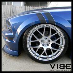 "20"" AVANT GARDE M310 SILVER CONCAVE WHEELS RIMS FITS FORD MUSTANG GT GT500 #AvantGarde #MustangWheels #Mustang #gt500 #agwheels #meshWheels"