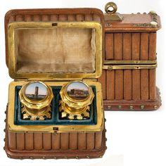 Antique French Grand Tour Souvenir Scent Box, Casket, Perfume, Eglomise of Paris | eBay