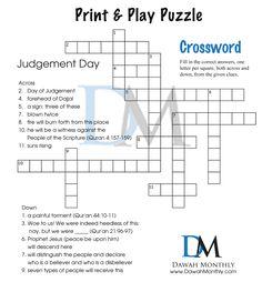 Crossword Puzzle - Judgement Day