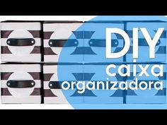 Veja como transformar caixas de papelão simples, em lindos organizadores. Veja mais em www.tuorganizas.com