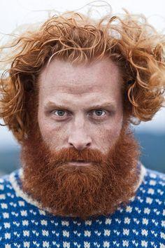 "for-redheads: ""Kristofer Hivju by Eirik Johnsen (Tormund Giantsbane, Game of Thrones) "" Ginger Men, Ginger Beard, Red Beard, Wild Ginger, Ginger Hair, Face Men, Male Face, Amazing Photography, Portrait Photography"