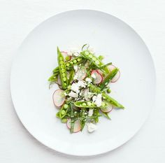 Snap Pea Salad with Radishes & Feta.