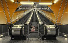 Metrostationen in Prag - Die längsten Rolltreppen, die ich bisher gesehen habe!
