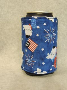 Patriot Dog Can or Water Bottle Cozy  Koozie by favorite4paws, $2.00
