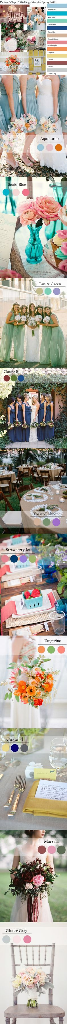 top 10 Pantone fashion wedding color inspiration
