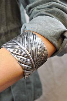 Feather Cuff by Jondie | JONDIE