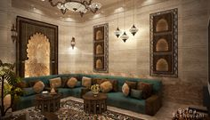 Moroccan Sitting Room on Behance