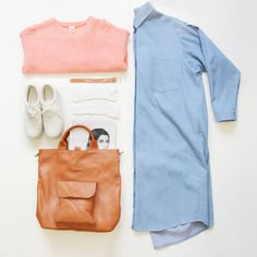 Wednesday Styling! And WOWZA, our Oversized Shirt Dress is now in the SALE! Be quick! Only at thewhitepepper.com   http://www.thewhitepepper.com/collections/sale/products/oversized-shirt-dress-denim