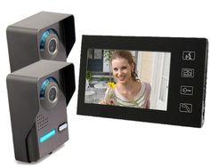 125.90$  Watch now - http://ali5z3.worldwells.pw/go.php?t=32731075829 - Freeship  Touch keypad 7''Night Vision Videoporter Doorbell 1/4 CMOS Door Camera Intercom System Rainproof Door Phone