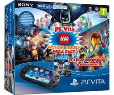 on aime Pack Console Sony PS Vita Noire + Mega Pack Lego + Carte mémoire 8 Go chez FNAC