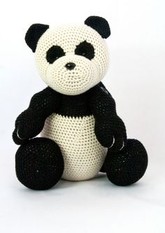#crochet, free Pattern 28: Mei the Panda Bear, amigurumi, stuffed toy, #haken, gratis patroon (Engels), Panda, knuffel, speelgoed, #haakpatroon