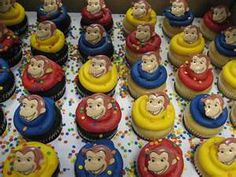 CupCake idea So colorful. 1st Birthday Themes, Fourth Birthday, 3rd Birthday Parties, Birthday Fun, Birthday Ideas, Curious George Cupcakes, Curious George Party, Curious George Birthday, Monkey Birthday
