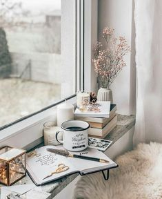 (PL↴ ) Do you have any morning ritual without which you don't start the day? ☺️✨ Maybe your favorite coffee ☕️ exercise yoga 🙏🏻 morning… Cozy Aesthetic, White Aesthetic, Coffee And Books, Coffee Love, Coffee Shop, Coffee Mugs, Home Bild, Foto Blog, Book Wallpaper