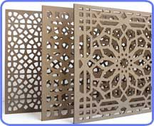 Decorative MDF Partition (Mashrabiya)  idea: dremmel?