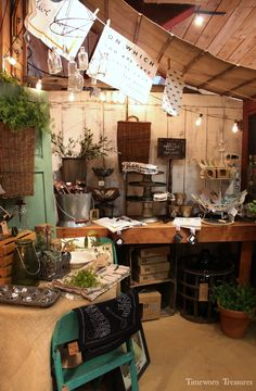 Store display @ our shop featuring unique finds great for spring & summer entertaining.
