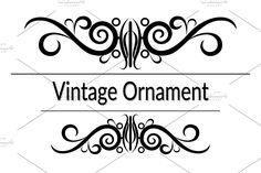 Certificate Templates, Vintage Ornaments, Contour, Abstract, Frame, Floral, Pattern, Decor, Art