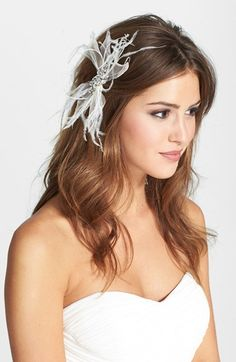 Serephine 'Quinn' Silk  Feather Hair Clip | Nordstrom