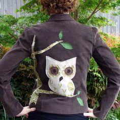 Upcycled corduroy jacket by TheCleverOwl @ Etsy