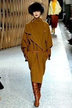 I want to be able to pull of a winter coat like this one by Hermes. #brown