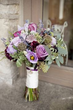 pink purple wedding flowers bouquet, image by Jo Hastings http://www.johastingsphotography.co.uk/