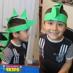 Fun kids Activity: How to Make a Dinosaur Hat - fungames4kids