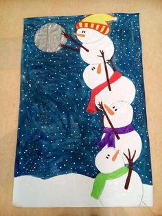 Winter Crafts For Kids Christmas Art Projects, Winter Art Projects, Winter Crafts For Kids, School Art Projects, Holiday Crafts, Art For Kids, Kindergarten Art, Preschool, Art Classroom