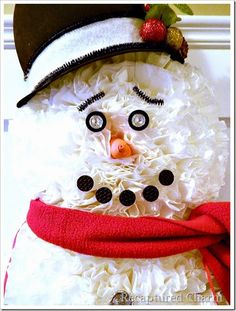 How to Make a Snowman Using Coffee Filters :: Hometalk