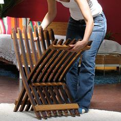 Folding Wine Barrel Chair by Whit McLeod Furniture - BuyGreen.