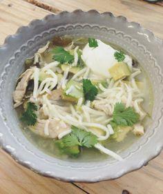 chicken avocado lime soup - crockpot