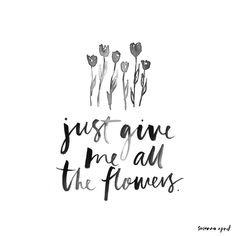 ALL THE FLOWERS // Susanna April