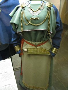Finnish viking age peplos style overdress. 11th cent. Reconstructed cemetery find from Eura, Finland.