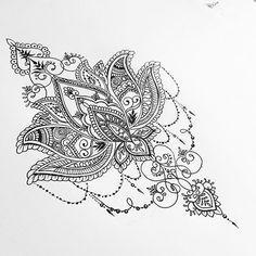 Lotus back piece for Cheldon (ALL DESIGNS ARE SUBJECT TO COPYRIGHT) #mandala #mehndi #lotusflower #backtattoo #tattoo #tattoodesign #lotustattoo