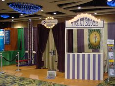 """If anyone is looking for some circus items to """"terrorize"""", I'm selling a high striker, ticket booth, and striped canvas backdrop (10'x20'). All used once at a trade show.  $3,000 new, take them all away for $500 obo.  Local pickup in Alexandria, VA only."""
