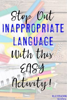 The other day I shared myclassroom rulesand how I teach them in the first days/weeks of the school year. Today I want to take those one step farther and also show you how I get rid of inappropriate language in my classroom from the first days. The first day or two is when we discuss …