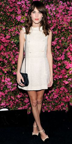 Alexa Chung in Chanel   -  At a Chanel dinner party celebrating the artists of the Tribeca Film Festival.  (April 2013)