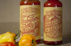 Bob's Tasty Habanero Jelly/Sauce designed by Nick Misani. Connect with them on Dribbble; the global community for designers and creative professionals. Habanero Jelly, Habanero Sauce, Food Packaging Design, Packaging Design Inspiration, Retro Packaging, Innovative Packaging, Packaging Ideas, Bobs, Label Design