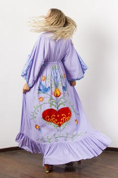 """""""Strange Magic"""" Women's embroidered duster - Lavender Fillyboo - Boho inspired maternity clothes online, maternity dresses, maternity tops and maternity jeans. Maternity Jeans, Maternity Tops, Maternity Dresses, Maternity Clothes Online, Strange Magic, Magic Women, Leather Blazer, Lace Dress, Bell Sleeve Top"""