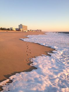 Rehobeth Beach Just After Sunrise In Delaware