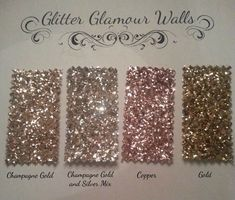 A small wall decorated with glitter wallpaper in a bedroom or bathroom would add a touch of glamour