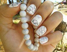 marble nail com laquê